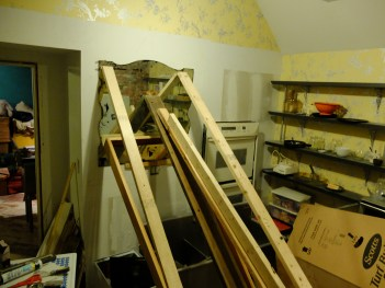 Then we climbed around this structure in the kitchen for a couple of days...