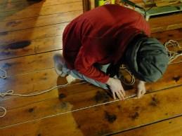Fitz weaving it into the cracks.