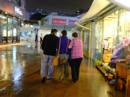 Rainy nights in Shanghai - Philein with her dear, sweet aunt and uncle.