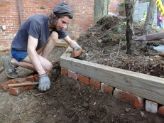 Creating a retaining wall.