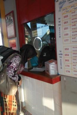 ~at ticket counter, Cha-Am (bangkok,Thailand) station...