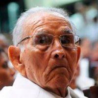 Juan Pablo Medina ya había sido ingresado este año debido a dolencias propias de su avanzada edad: tenía 101 años. (FOTO: FUENTE EXTERNA)