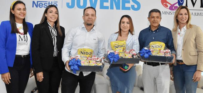 Luviani Justo, Patricia Mejía, Jean Carlos Marte, Johanna Madera, José Valdez y Gisell Brito.