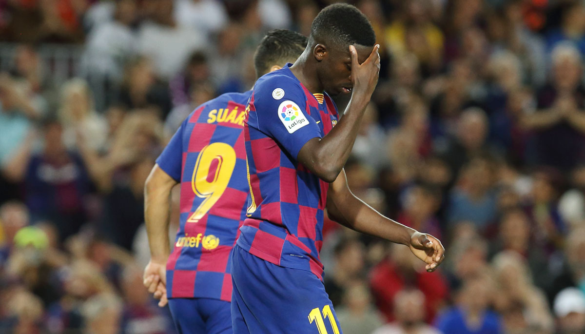 Ousmane Dembele's season is over after suffering a hamstring tear