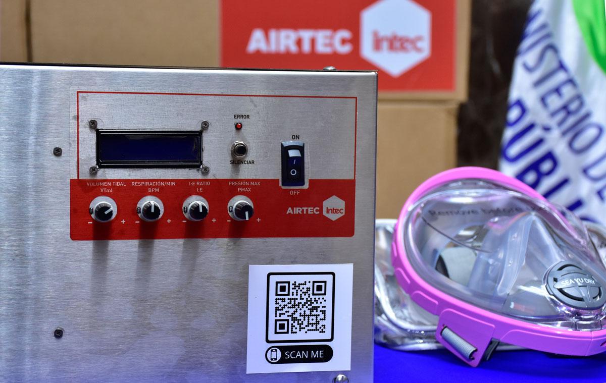 INTEC entregó nuevas unidades del ventilador Airtec al Ministerio de Salud Pública