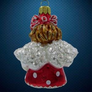 Стеклянная елочная игрушка Девочка-ангелочек 3