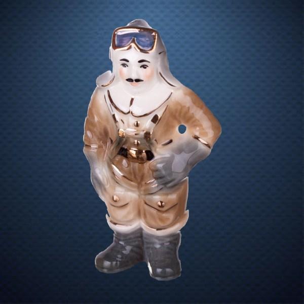 Фарфоровая елочная игрушка из серии СОЛДАТИКИ Фарфоровая Мануфактура ПАРАШЮТИСТ ВОВ