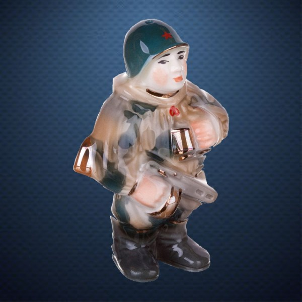 Фарфоровая елочная игрушка из серии СОЛДАТИКИ Фарфоровая Мануфактура РАЗВЕДЧИК ВОВ