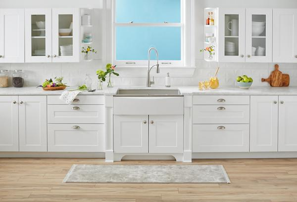 elkay kitchen sinks step stool chair crosstown stainless steel glacier brings tranquility to the