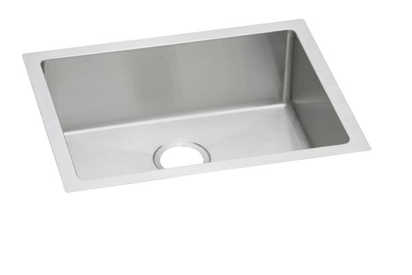 ss kitchen sinks narrow islands elkay undermount stainless steel crosstown 16 gauge 23 1 2 x 18