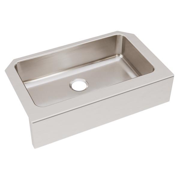 kitchen sink farmhouse custom made islands elkay lustertone经典不锈钢33 x 20 1 2 8 单碗农舍水槽 必威绝地 lustbetway电竞ertone经典不锈钢33图片