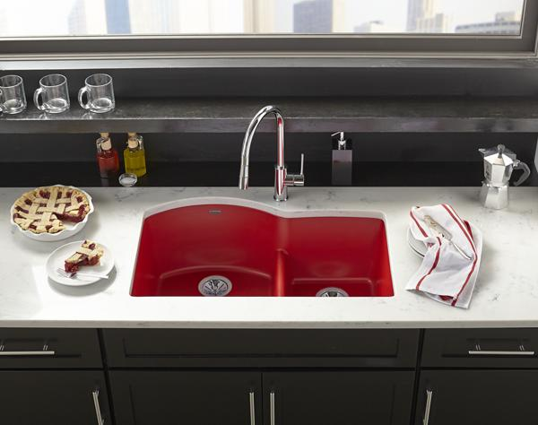 ELKAY  Quartz Luxe Kitchen Sinks Bold Granite Colors Sleek Style