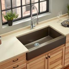 Brown Kitchen Sink French Country Curtains Quartz Luxe Sinks Elkay Farmhouse