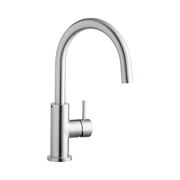 elkay kitchen sinks ideas for backsplash contemporary faucets the home allure single hole faucet with lever handle satin stainless steel