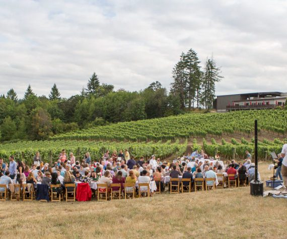 fine dining outdoors at Elk Cove