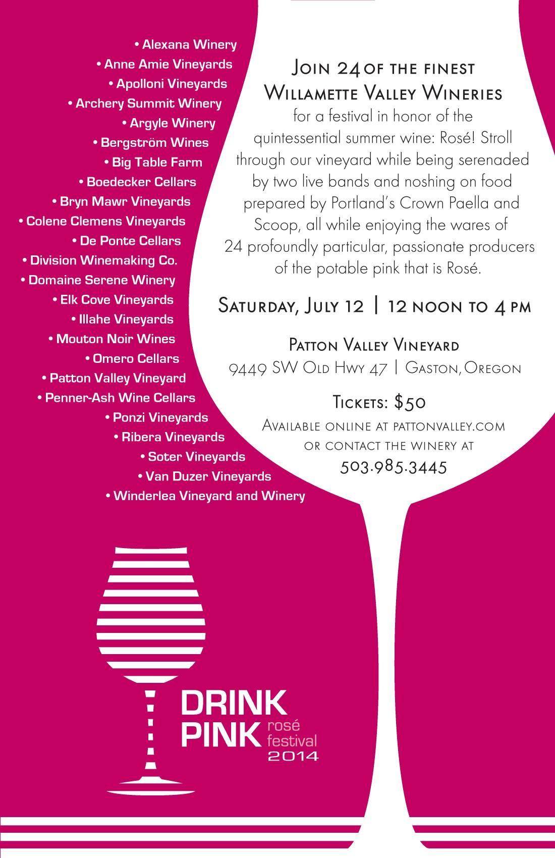 Drink Pink 2014 Poster