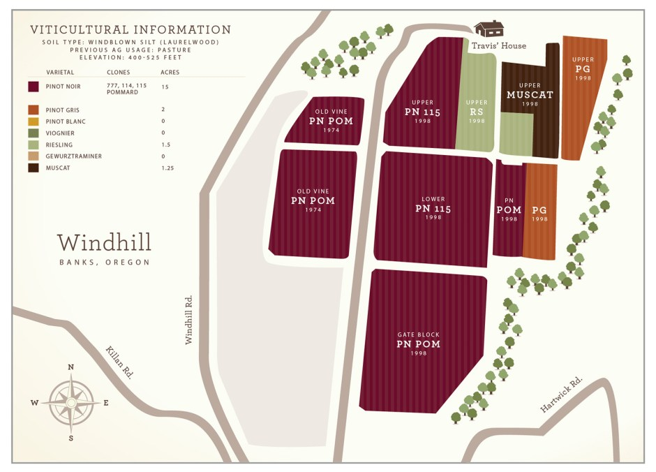 Windhill Vineyard Map