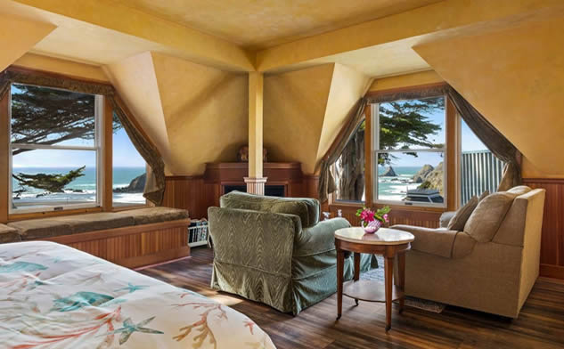 Mendocino Coast Oceanfront Lodging Elk Cove Inn Bed And