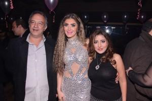 سحر شعراوي والمنتجة نسمة محمود وزوجها