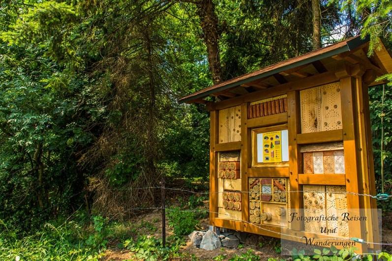 Großes Bienenhotel hat viele Gäste