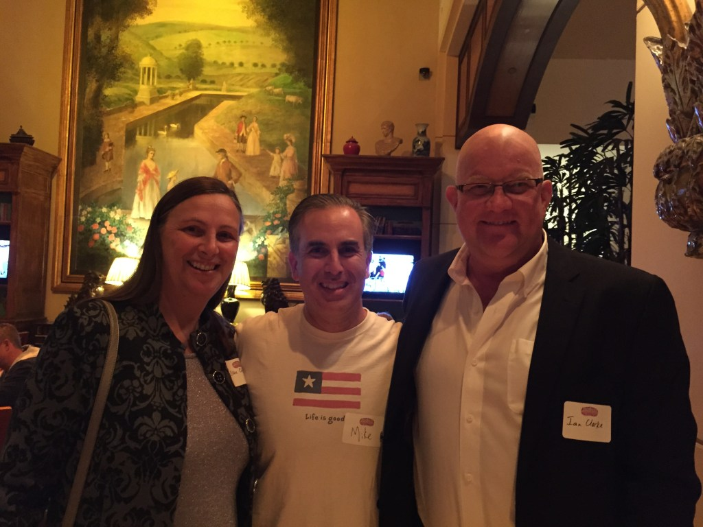 Ian and Elke Clarke with Mike Stelzner at SMMW15