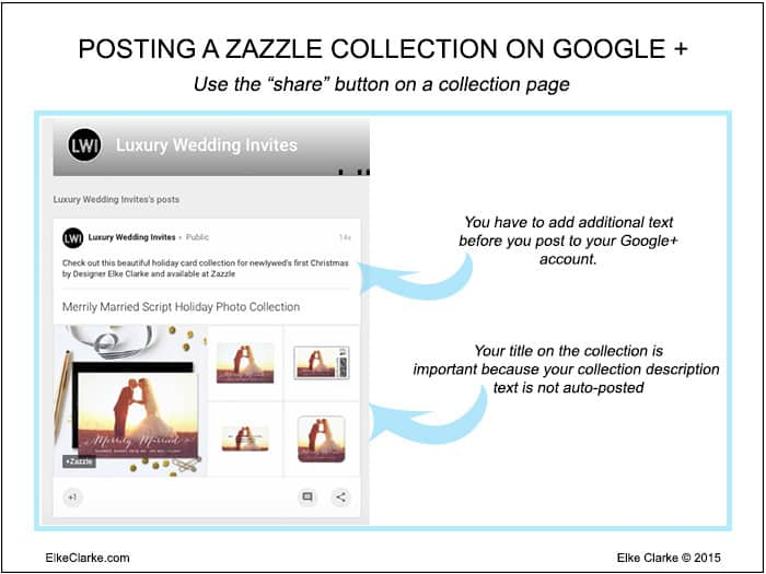 How to Post a Zazzle Collection to Google+ Business Account