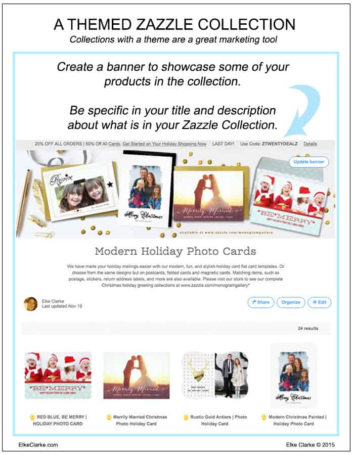 A Themed Zazzle Collection can be a great marketing tool for your Zazzle products