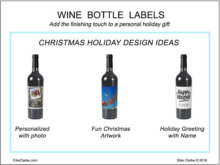 Design Ideas to Create Christmas Holiday Wine Bottle Labels to Sell on Zazzle
