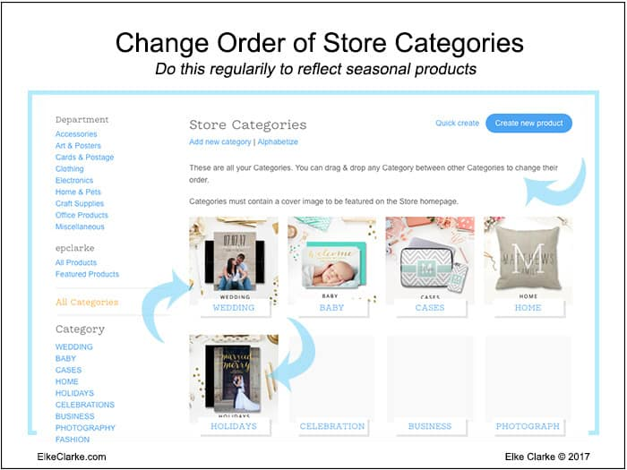 Optimize Zazzle Store Categories Positioning Throughout The Year