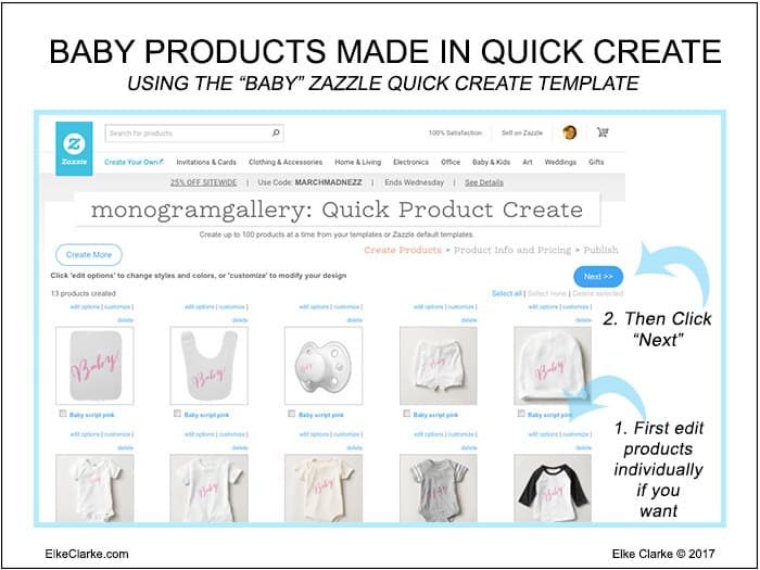 Baby Products Made with Zazzle Quick Create Template