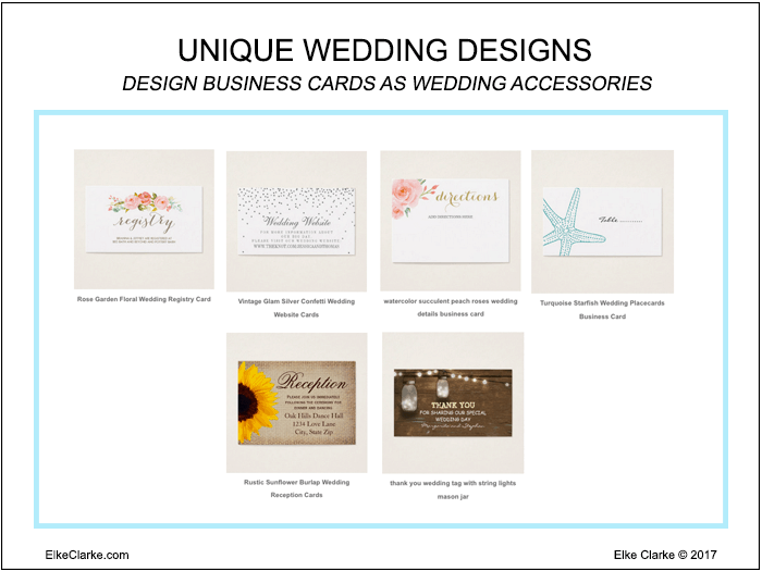 Unique Wedding Designs for Business Cards