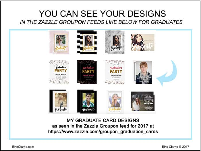 See Your Designs in the Zazzle Groupon Feeds Like This Graduation Category
