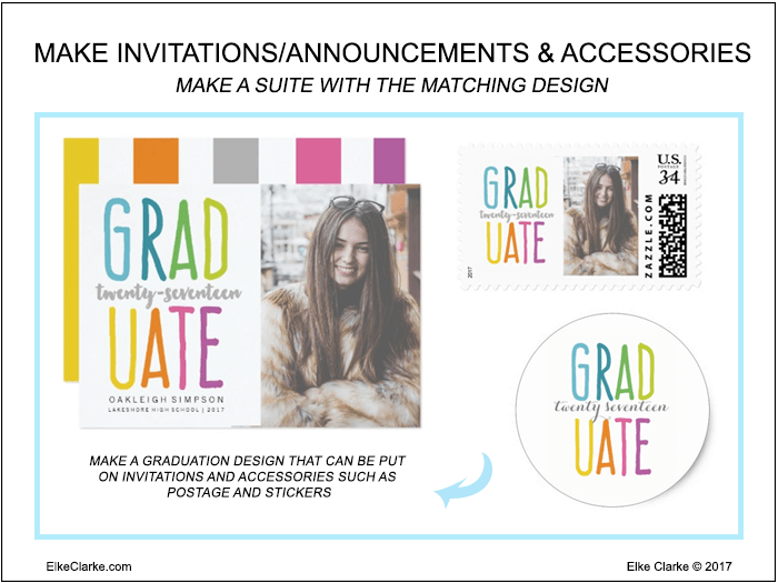 3 ways to design graduation products on zazzle elke clarke make graduation party invitations and accessories filmwisefo