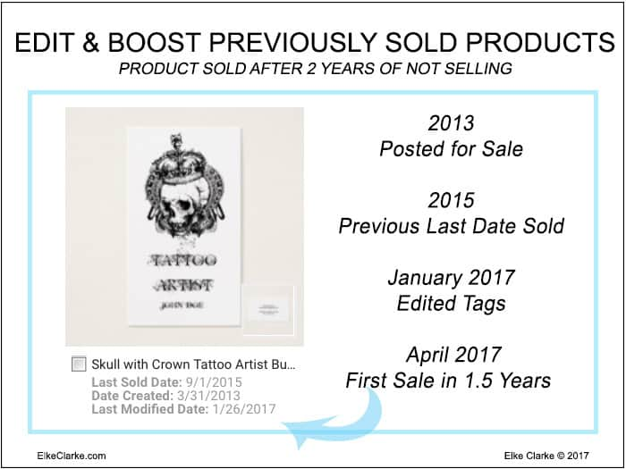 Boost Visibility of Previously Sold Zazzle Product by Editing Tags and Title