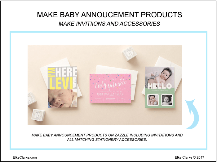 Make Baby Announcement Invitations and Matching Stationery Accessories