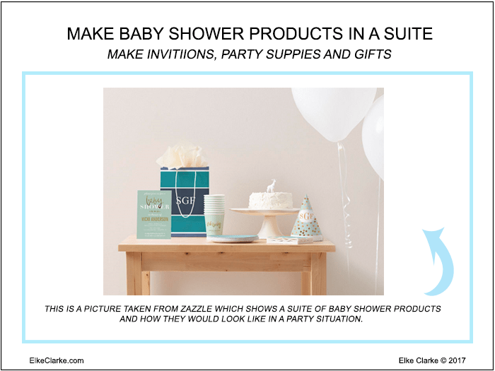 Make Baby Shower Products In A Suite