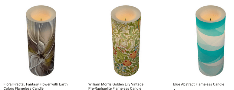Design Candles Using Your Artwork on Zazzle