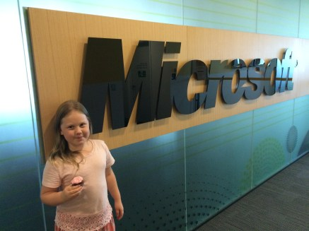 Superhero Daughter day at Microsoft