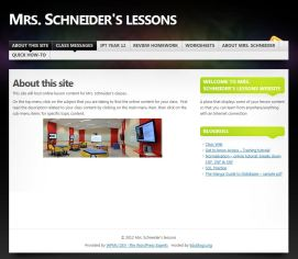 my teaching website in the early days