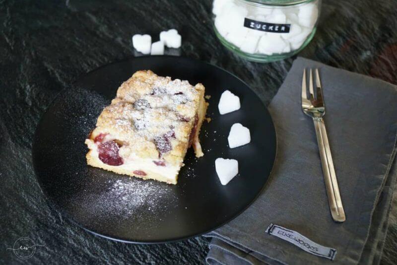 Backen   Ein schneller Quark-Streuselkuchen mit Obst