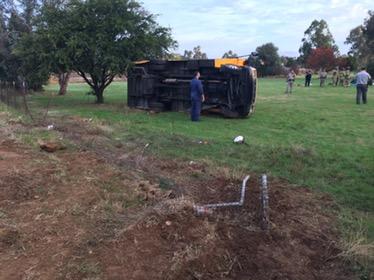 School Bus Overturned