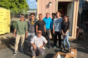 Laguna Creek High School Students Build & Donate Tiny House to Homeless Veteran