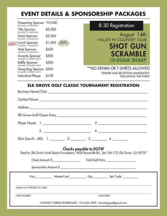 Elk Grove Golf Classic Benefitting Elk Grove Youth Sports