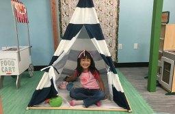 Roxana Cheung enjoys pretending she is camping.