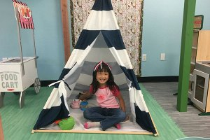 Roxana Cheung enjoys pretending she is camping.