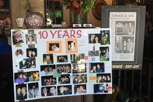 The Brick House decorated for their 10th Anniversary Celebration