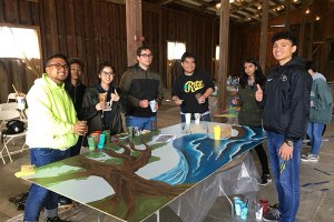 EGUSD High School students at Walls Out Loud at Lent Ranch