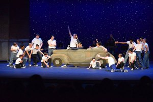 Greased Lightening shot of the musical Grease by Musical Mayhem Productions