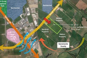 Site map of proposed Elk Grove Multi-Sport Park Complex