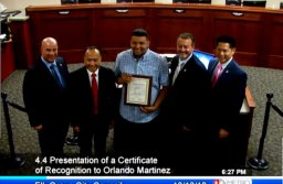 Local Hero Gets Certificate of Recognition From City Council & Becomes Honorary City Council Member